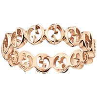 Кольцо Gucci 1973 из розового золота в виде колец из логотипа, фото