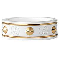 Кольцо Gucci Icon из желтого золота и циркония с шипами, фото