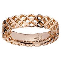 Широкое кольцо Gucci Diamantissima из розового золота с перфорированным узором, фото