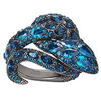 Кольцо Gucci Le Marche des Merveilles с топазами и сапфирами, фото