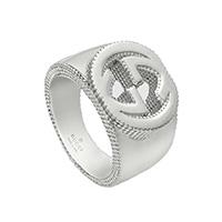 Широкое кольцо GucciInterlocking G с текстурированной отделкой, фото