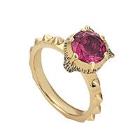 Золотое кольцо Gucci Le Marche des Merveilles с розовым турмалином, фото