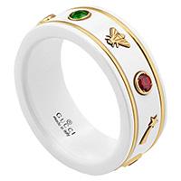 Широкое кольцо Gucci Icon с цветными топазами, фото