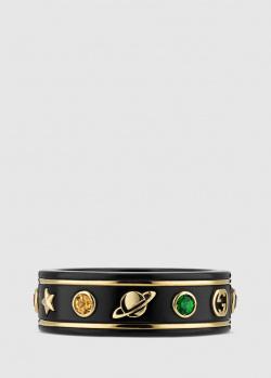 Широкое кольцо Gucci Icon с драгоценными камнями, фото