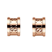 Полукруглые серьги-гвоздики Gucci Icon с перфорацией из розового золота, фото