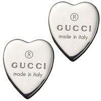 Серьги Gucci из серебра Trademark heart, фото