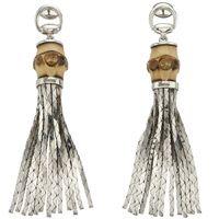 Роскошные серьги Gucci из серебра Bamboo with cobra chains, фото