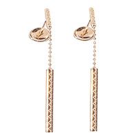Серьги с подвесками Gucci Diamantissima из розового золота с узором, фото
