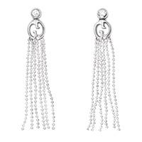 Длинные серьги Gucci 1973 с белыми бриллиантами, фото