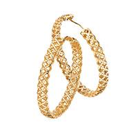 Серьги-кольца Gucci Diamantissima из желтого золота с перфорацией, фото