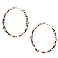 Серьги-кольца из розового золота Gucci Bamboo в бамбуковой стилизации, фото
