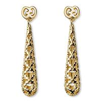 Серьги-подвески Gucci Diamantissima из желтого золота с крестообразной перфорацией, фото