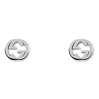Серьги-гвоздики Gucci Trademark с фирменным знаком из стерлингового серебра, фото