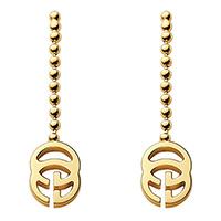 Серьги Gucci Running G из желтого золота с подвесками в форме букв G, фото