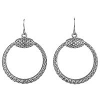 Серьги-кольца Gucci из серебра с перфорацией, фото