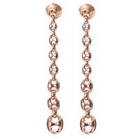 Длинные серьги-гвоздики Gucci Marina Chain из розового золота в форме цепи из крупных звеньев, фото