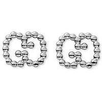 Серебряные серьги Gucci Boule из бусин с застежкой-гвоздиком, фото