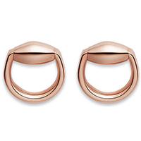 Серьги-гвоздики Gucci Horsebit округлой формы из розового золота, фото