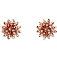 Золотые серьги-гвоздики Gucci Flora в форме цветов с россыпью бриллиантов, фото