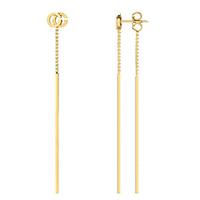 Длинные подвесные серьги Gucci Running G из желтого золота, фото