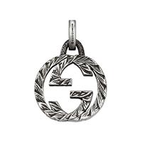 Серебряный кулон Gucci Charms в форме двух сцепленных букв G, фото