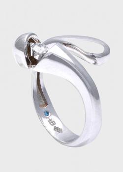 Кольцо Roberto Bravo Salsa-N с белым и голубым бриллиантом, фото