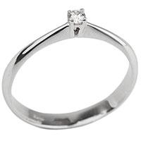 Тонкое золотое кольцо с бриллиантом, фото