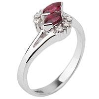 Кольцо из золота с рубинами и бриллиантами, фото