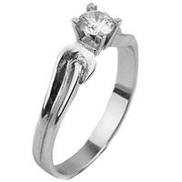 Помолвочное золотое кольцо с бриллиантом, фото