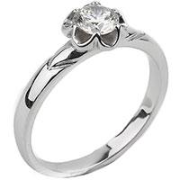 Золотое кольцо в виде цветка с бриллиантом, фото