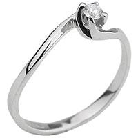 Кольцо из золота с вставкой-бриллиантом, фото