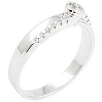 Кольцо из белого золота с бриллиантом круглой огранки, фото