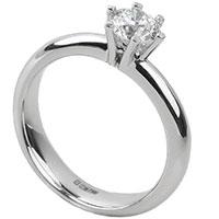 Помолвочное кольцо из белого золота с бриллиантом, фото