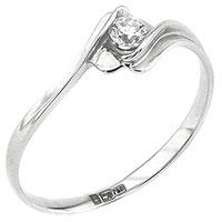 Золотое кольцо с вставкой-белым бриллиантом, фото