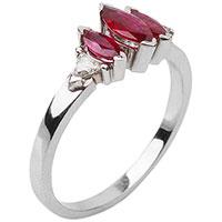 Золотое кольцо с бриллиантами и рубинами, фото