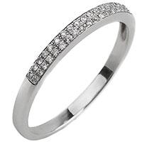 Золотое кольцо с дорожкой из бриллиантов, фото