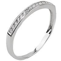 Кольцо из золота с бриллиантовой дорожкой, фото