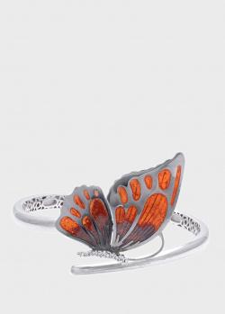 Браслет Roberto Bravo Wings с бабочкой и белыми фианитами, фото