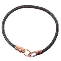 Черные браслет Zaedes с золотистой застежкой, фото