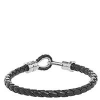 Плетеный браслет Zeades из кожи черного цвета, фото