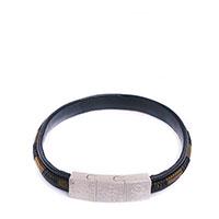 Черный браслет Zeades из кожи с декором, фото