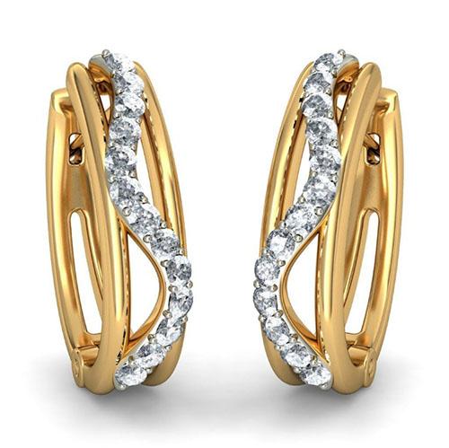 Серьги Kiev Jewelry Aveal инкрустированные бриллиантами 000714-1046366, фото