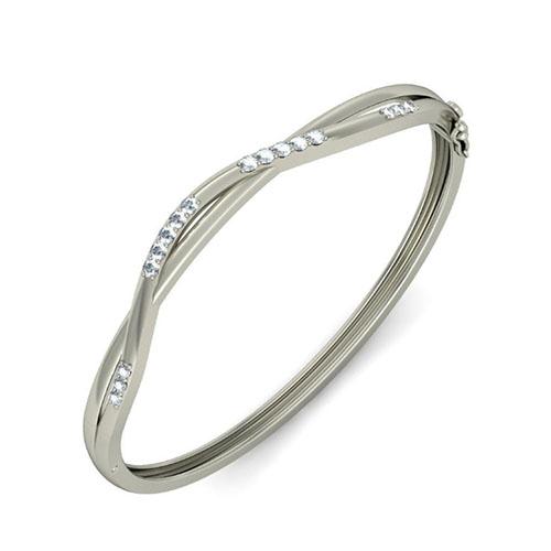 Золотой браслет Kiev Jewelry Izar с фианитами 000956-1046983-f, фото