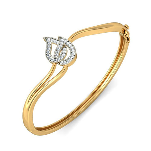 Золотой браслет Kiev Jewelry Sylth с фианитами 000999-1047135-f, фото