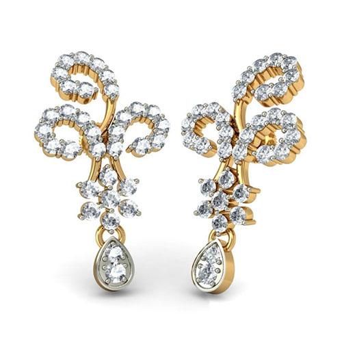 Серьги Kiev Jewelry Samidha с бриллиантами 001163-1047542, фото
