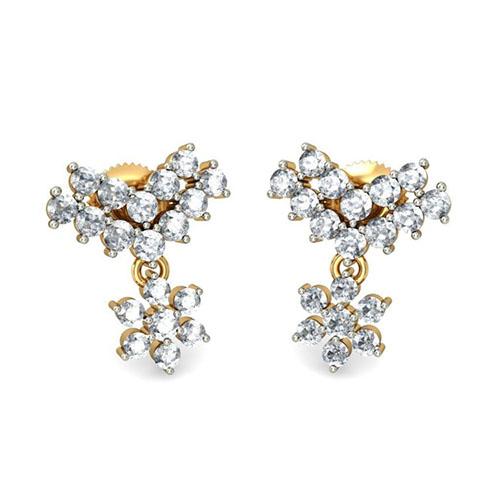 Золотые серьги Kiev Jewelry Aditri с бриллиантами 001166-1047543, фото