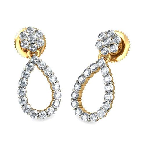 Золотые серьги Kiev Jewelry Enakshi с бриллиантами 001198-1047658, фото