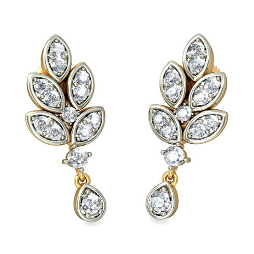 Золотые серьги Kiev Jewelry Sabaratnam с бриллиантами 001199-1047660, фото