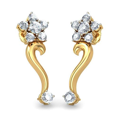Серьги Kiev Jewelry Manjusha с бриллиантами 001208-1047691, фото