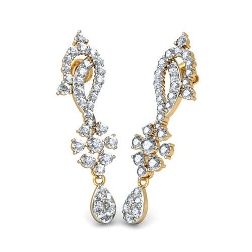Серьги с бриллиантами Kiev Jewelry Sindhura 001215-1047721, фото